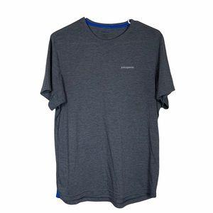 Patagonia Basic Short Sleeved Tee Gray + Blue Men's Size Medium